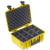 ArmaCase AC4000YD YELLOW Watertight Case, DIVIDERS 15.1x10.6x6.5
